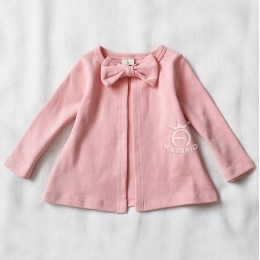 Kids Girl Ribbon Cotton Jacket