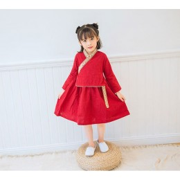 [CNY2019 Pre-Order] Girl Chinese Traditional Costume Hanfu Fake 2pc Set Dress