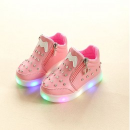 Kids Girl Studded Sport Shoes with Light