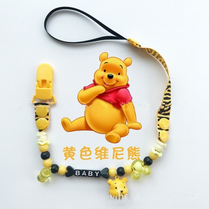 Baby Toddler Cartoon Pacifier Chain Clip Chain