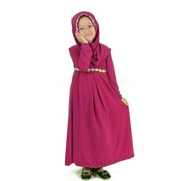 Colourful Flower Baju Kurung Long Dress Girl Kids Set