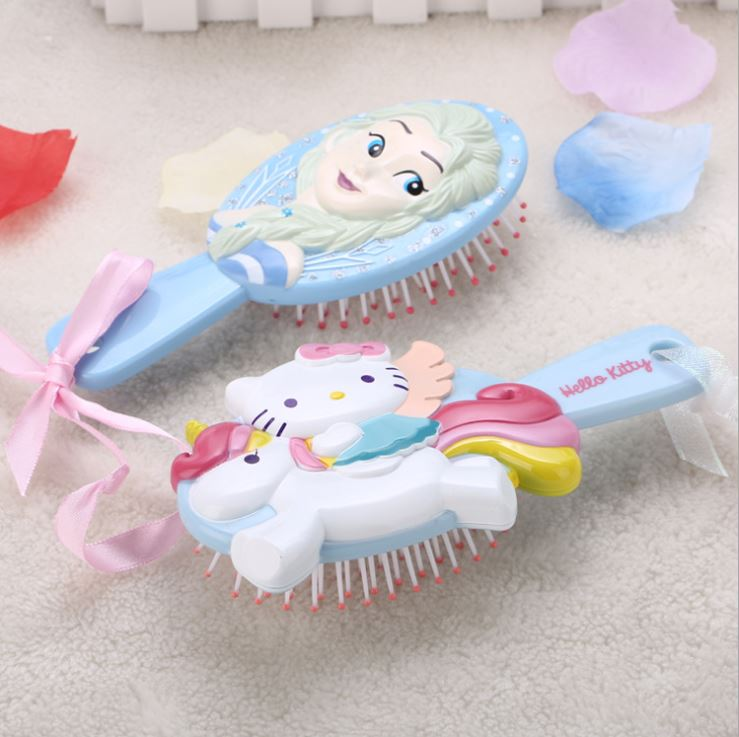 3D Frozen Kids Comb Hello Kitty Kids Comb Hair Brush