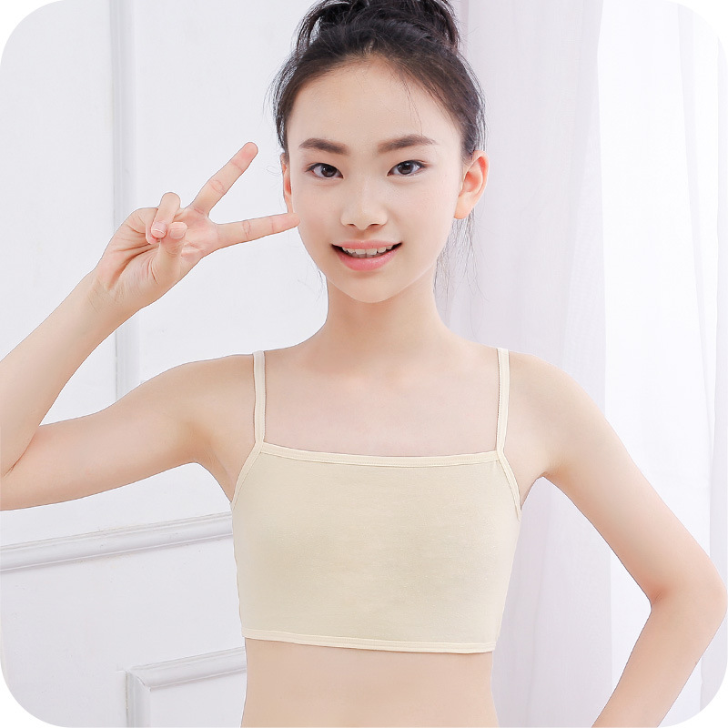 Pre-teen Girl Singlet Vest Tube Top Sport Bra Training Bra