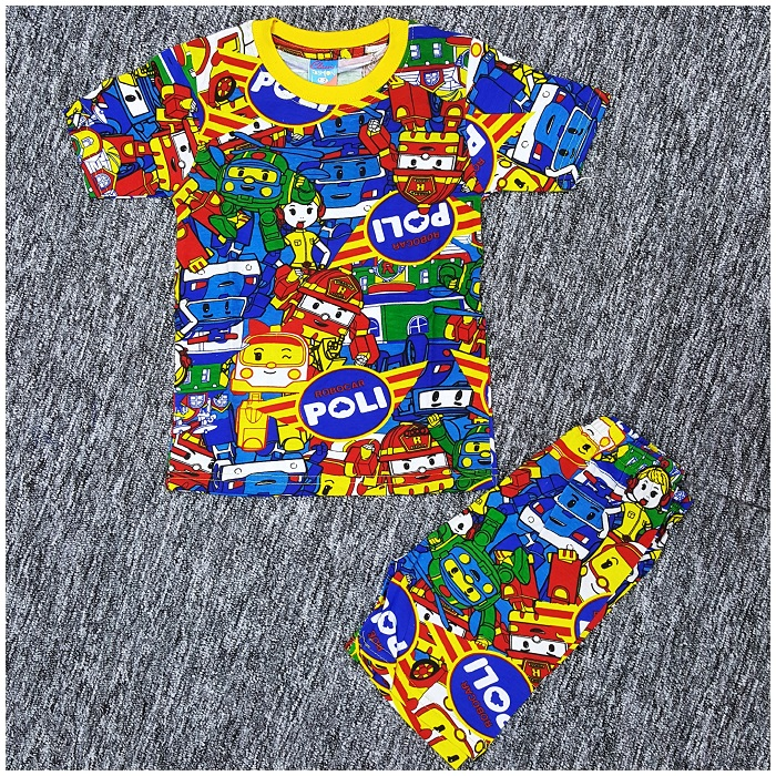 Robocar Poli Kids Boy Short Sleeve Set